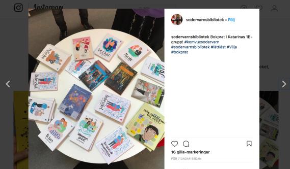 Södervärns bibliotek på Instagram